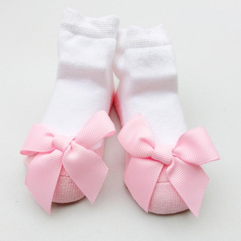 2017 new arrival ballet lace kids girls sock panel net yarn bow socks