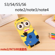 Despicable Me Minions Back Case For Samsung Galaxy S3 S4 S5 S6 S6 edge