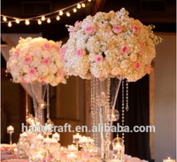 white rose and hydrangea Ferris Wheel flower arrangement for table top decoration