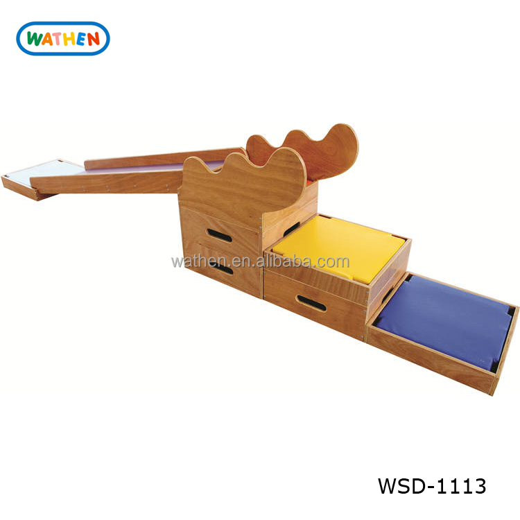 Christmas Holiday Promotion Sale Kids Wood Indoor Soft Foam Climbing Slide