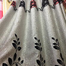 Hotel quality luxury blackout polyester jacquard window curtain with valance