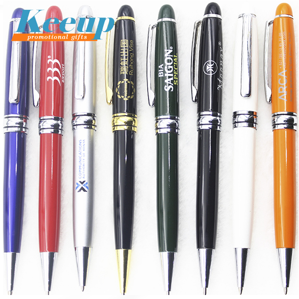 Gift promotion advertising personalized twist metal ballpoint pens with custom logo