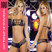 Performance Jazz Dance Suits Sexy PVC micro bikini