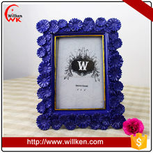 Ornate Blue Daisy Flower Photo Picture Frames 4x6