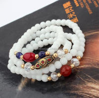 B455 yiwu fashion jewelry multilayer beaded bracelet bead bracelet Europe best selling bracelet Free shipping