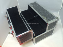 NEW ALUMINUM BLING Cosmetic Beauty Box, Jewlery Box or Makeup case