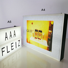 personalised mini lightbox diy black letters cinematic box led slim light boxes
