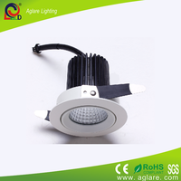 Aglare 2015 hot selling recessed 7w led light cob round LED downlight