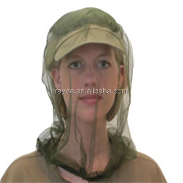 mosquito head net treated,super polyester mosquito net hat for head net mosqitoes