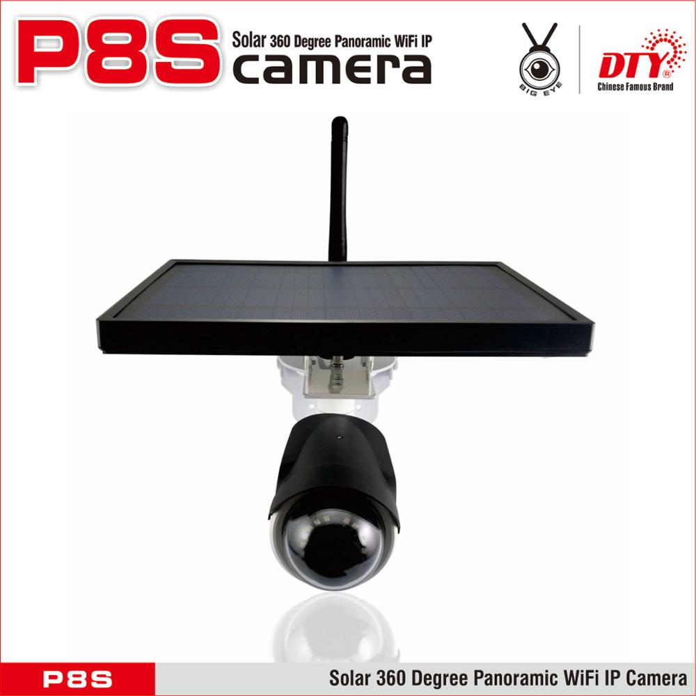 2017 Newest hydrid power solar cctv camera, VR panoramic IP Camera,