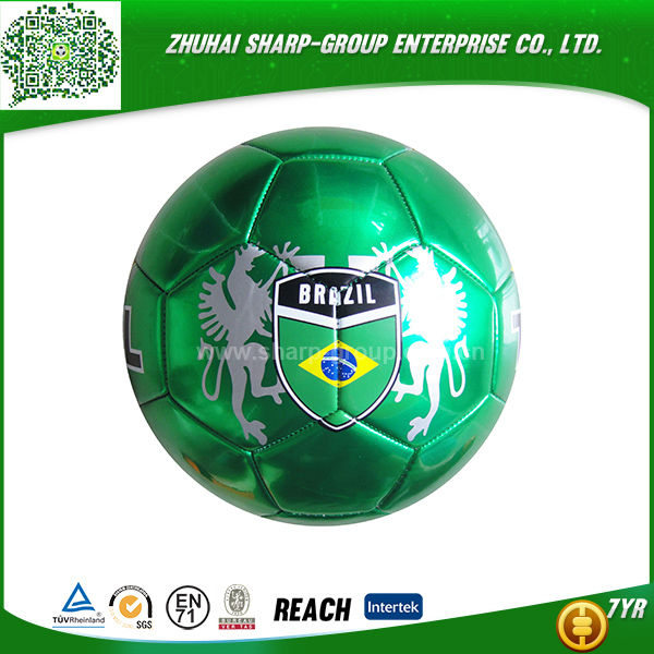 wholesale promotional Emboss logo machine stiched pvc soccer ball