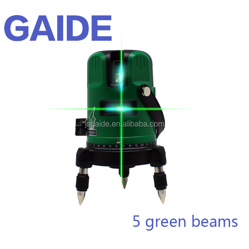 5 lines self leveling multi line rotating spirit long distance hot sale laser level 360 green/red beam with goggles