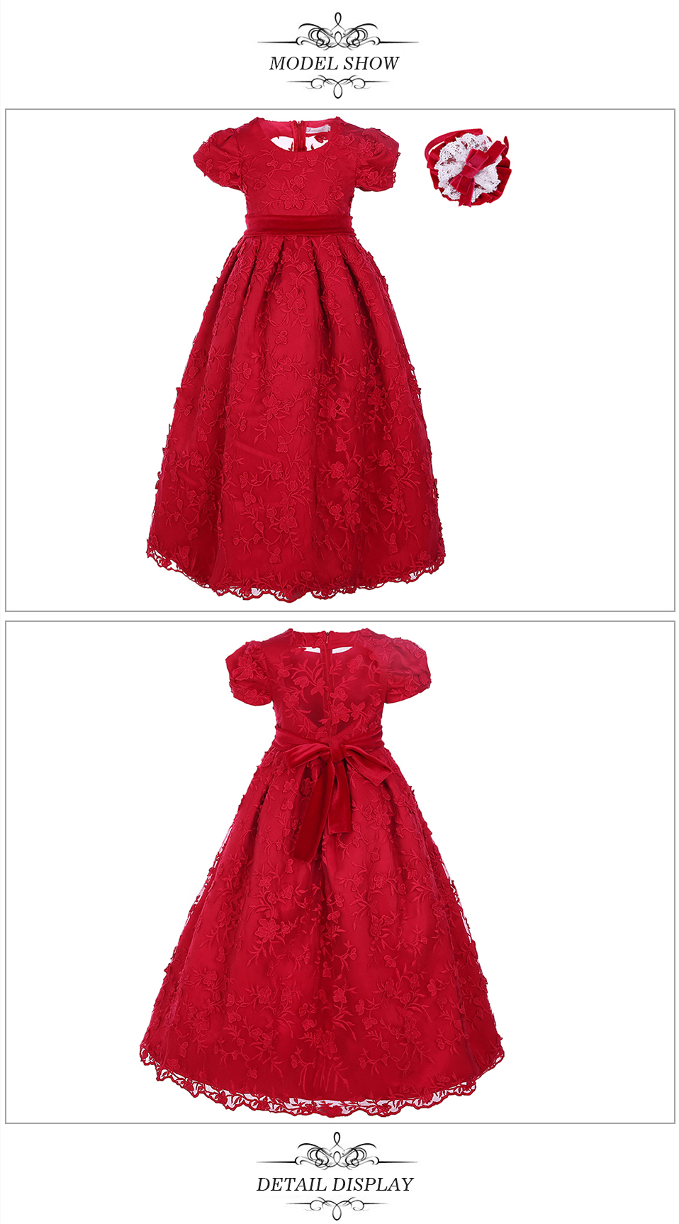 red berry clothing online shop china mother daughter matching embroidery frock long dress