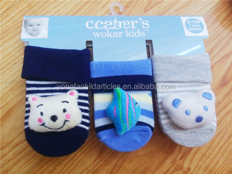 Wholesale children cartoon deaigns 3d animal socks