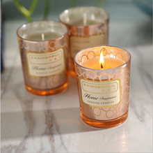 European romantic candle semoke-free odor fragrance oil glass candle birthday party decorations Report