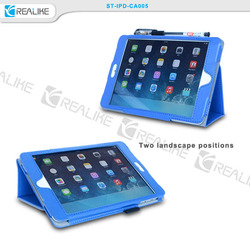 luxury high quality pu leather case for ipad air, pu stand case for apple ipad air