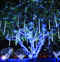 SMD5050 wholesale falling star led christmas light,meteor shower chandelier,park and city street decoration