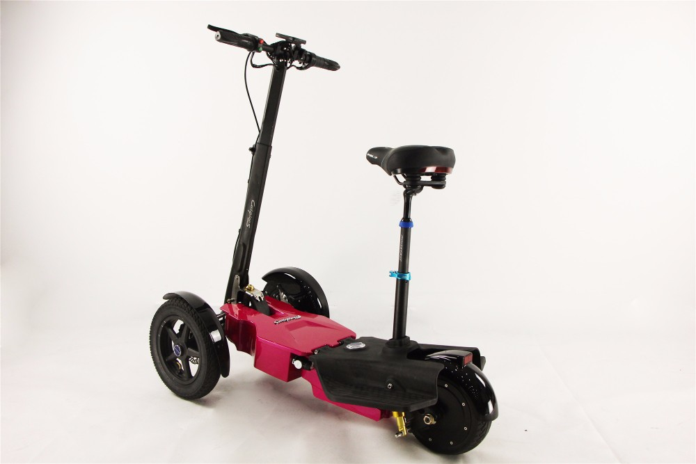 foldable cool newest design hot sale three wheel electric scooter T3 tricycle