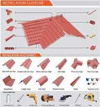 Roof tile 2016 price list impervious warehouse building material sand coated