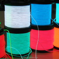 Green, blue, red, white, pink, purple, yellow, orange, grass green, blue green 10 colors el wire available