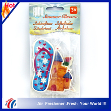 summer breeze 3 perfume hanging paper car air freshener/ latest products in market car fragrance diffuser card