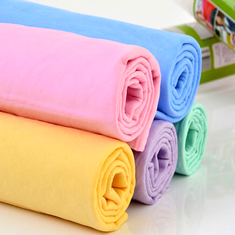 customized pet cleaning PVA chamois towel