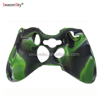 Camouflage Color Protective Skin Silicon Case for XBOX360 Controller