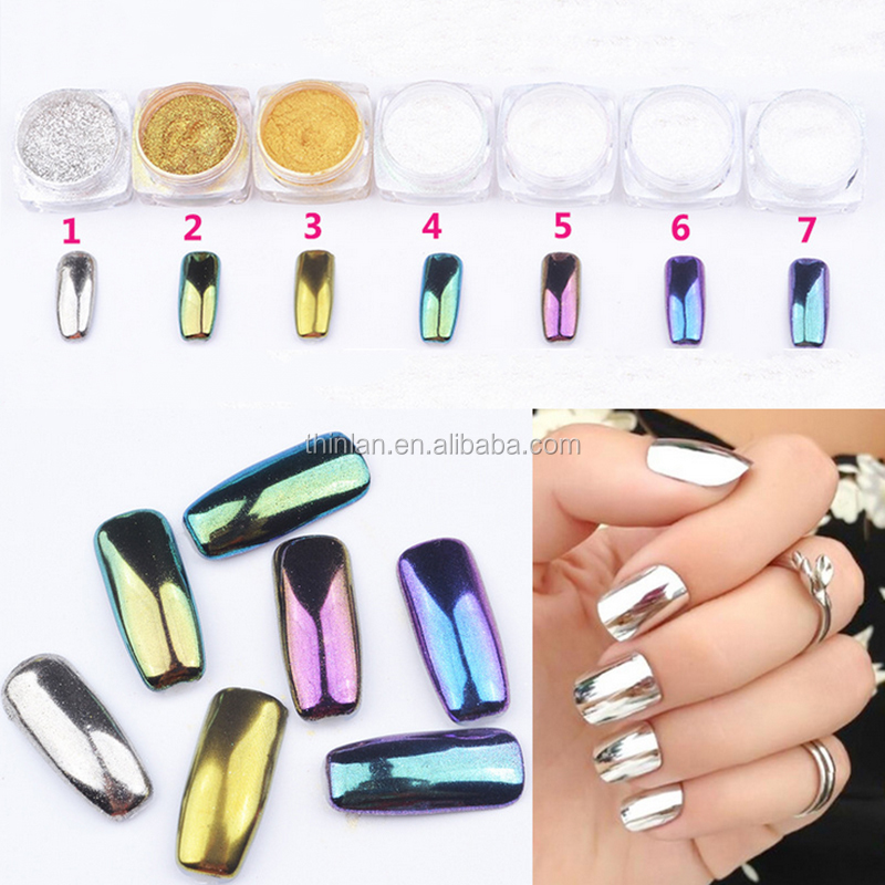 Alibaba best sellers hot popular products nail mirror powder gel lacquer nail polish mirror chrome effect powder for nail polish