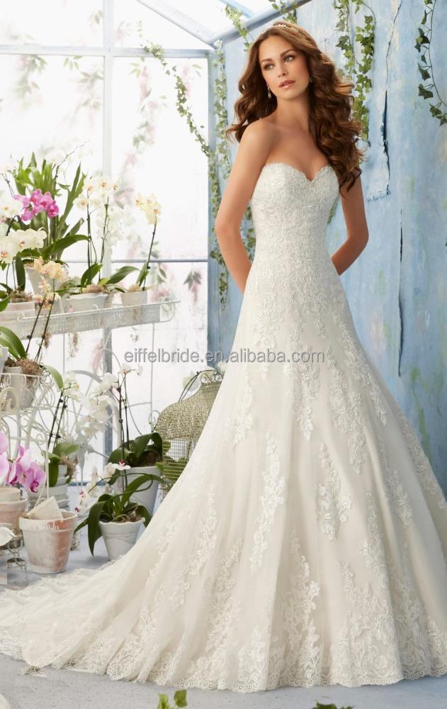 ... de la Chine robe de mariée dentelle blanc cassé Grossistes en ligne
