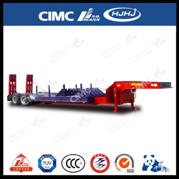 CIMC 2axle Lowbed Semi-Trailer with Extended Platform