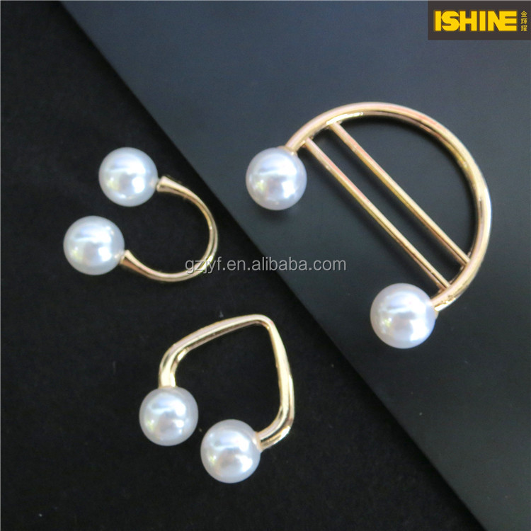 Whosale U Shape Metal Pearl Pin Buckle For Decoration