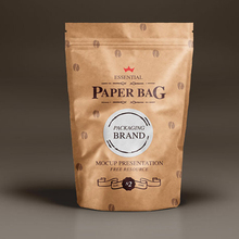China products standing up zipper top brown kraft paper coffee bag