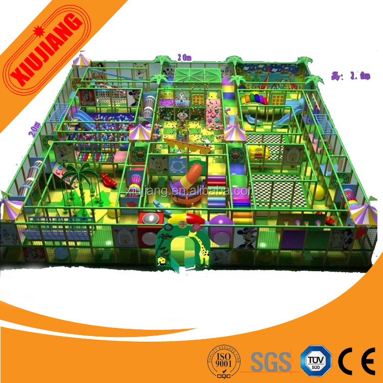 Funny soft modern kids indoor playground mini modular castle for sale
