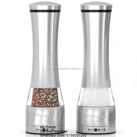 stainless steel electric salt and pepper grinder set wholesale