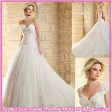 WL0031White romantic plus size wedding dress patterns fashion fluffy skirt wedding dress ball gown dropped waist wedding gown