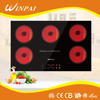 China Supplier Sensor Touch 5 Burner Infrared Ceramic Hob With Built-in Design