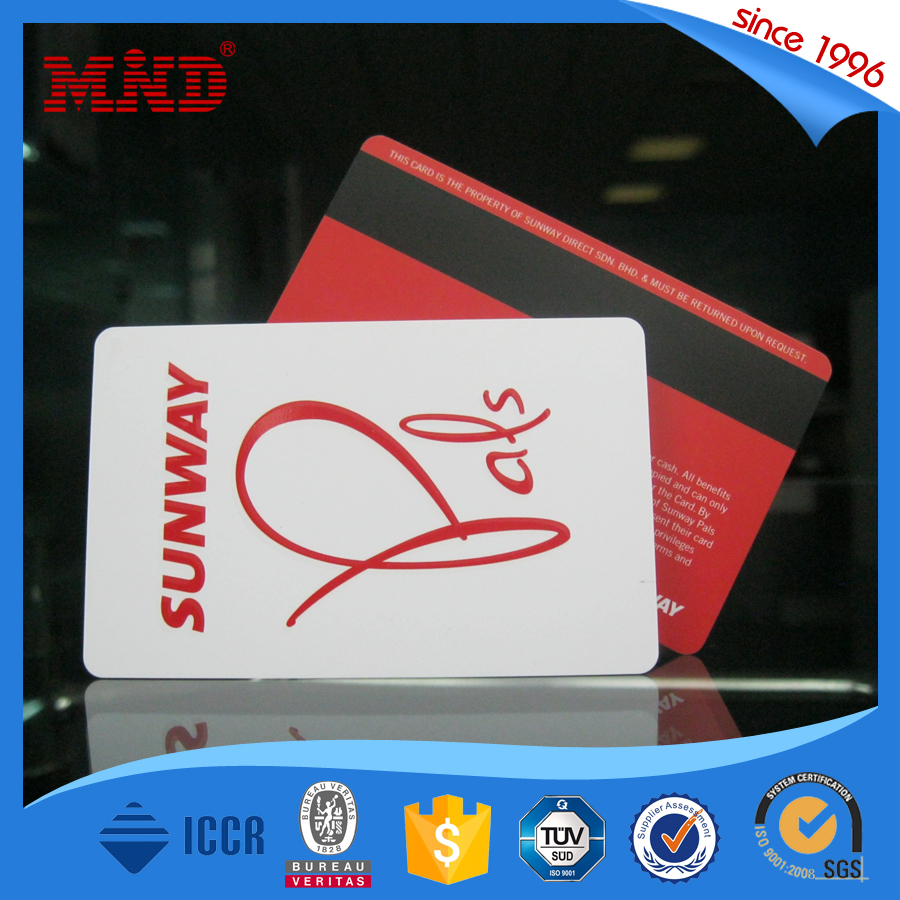 Wholesale cheap price PVC card with magnetic strip