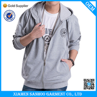 Wholesale Blank Bulk Zipper Customed Hoodie With Your Own Design Made In China