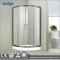 Esuya simple adjustable shower room shower enclosure with shampoo bracket