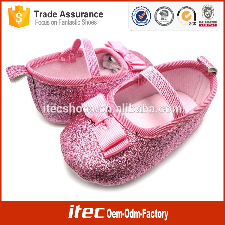 Fashion Bow Mary Jane Sparkle Baby Shoes