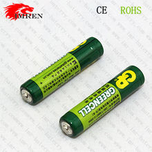 IMR GP 24G R03 AAA size 1.5V greencell battery with button top