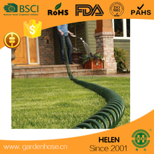 100Ft Super Coil Hos EVA recoil Expanding Hose Green Flexible Expandable 30 Metre Coil Hose+spray gun ideal to water the garden