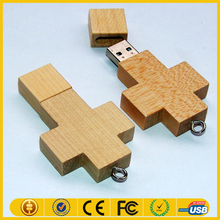 Direct buy china Nature wooden thumb usb stick 32gb cross pen drive