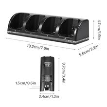 quad Charging Dock Station + 4 Pcs2800mAh Battery Packs for Nintendo Wii Remote Controller