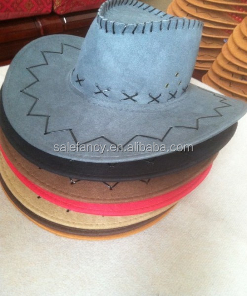 Hot selling cowboy hat Design your own straw cowboy hat QHAT-0223