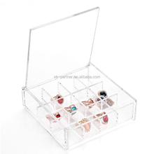 Empty clear plastic jewelry/earing/cosmetic packaging box