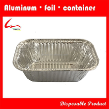 Offer different shapes 100ml,450ml,750ml to 2400ml capacity disposable aluminum foil container / tray / lunch box with lid