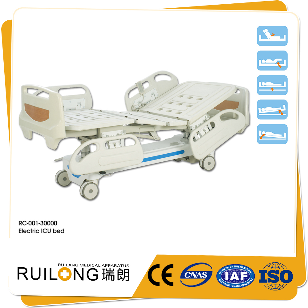 five functions all electric bed patient bed home care with wheels