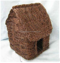 natural material rattan pet houses for home&garden decoration