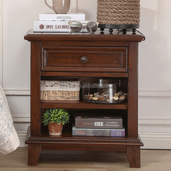 F40661A-1 American country distressed furniture samll bedside table with 1 drawer